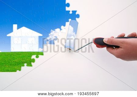 illustration of paint project Ideas to beautify your Home.