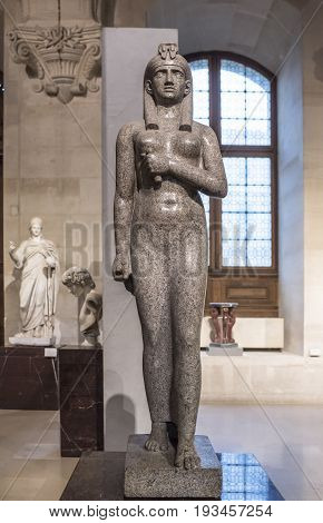 Paris,France- May 032017: Isis. Antoine-Guillaume Grandjacquet.The Louvre