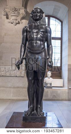 ParisFrance- May 032017: Osiris .Antoine-Guillaume Grandjacquet. Louvre