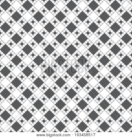 Vector seamless pattern. Abstract plaid textured background. Classical rhombic geometrical texture with repeating rhombuses diamonds. Checkered surface for shirts cloths.