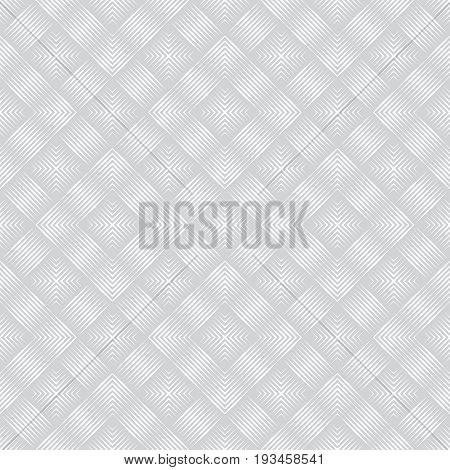 Vector seamless pattern. Abstract linear textured background. Modern geometric texture with thin lines. Regularly repeating geometrical tiles with rhombuses diamonds corners.