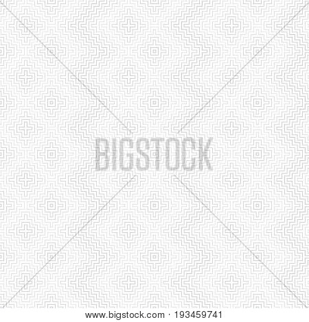Vector seamless pattern. Infinitely repeating modern geometrical texture consisting of thin corner lines which form zigzag and rhombus shapes with halftone effect. Trendy design.