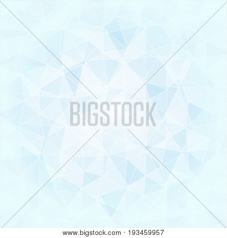 abstract poligonal background in blue and white tones vector