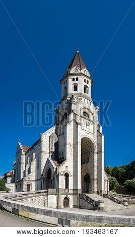 Large Panoramic View Of  Basilique De La Visitation. Annecy At Haute-savoie Department. France