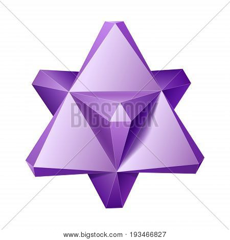 Vector complex geometric shape based on two tetrahedrons