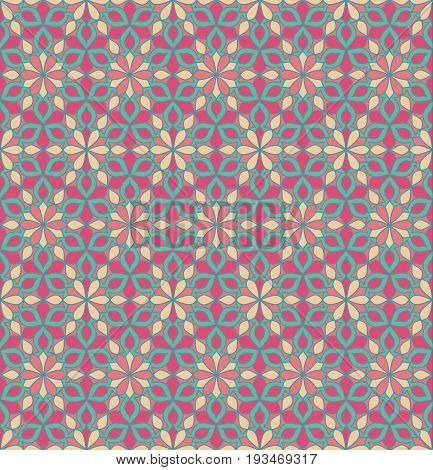 Abstract Flower Seamless Patterns