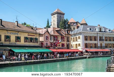 Restaurants And Cafe At Annecy Town,