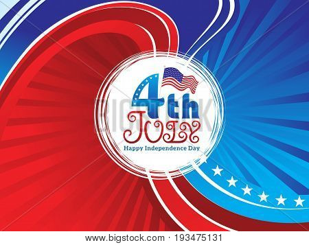 abstract fourth july celebration background vector illustration