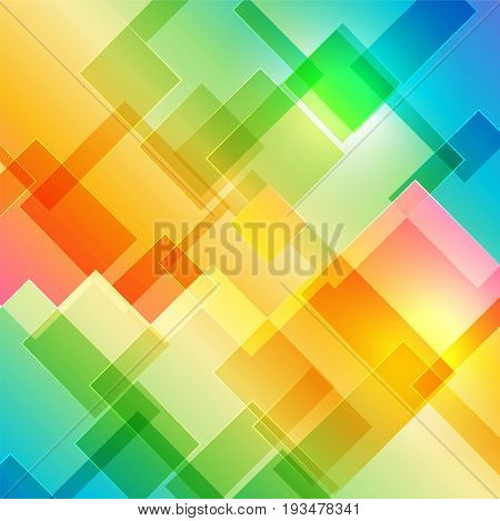 Multicolored cover background with geometric shape, vector illustration