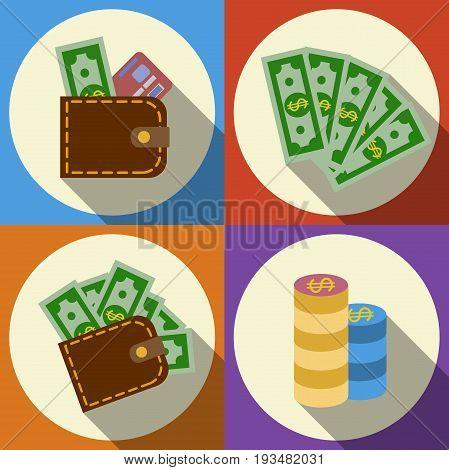 Finance and money icon set. Ilustration eps10