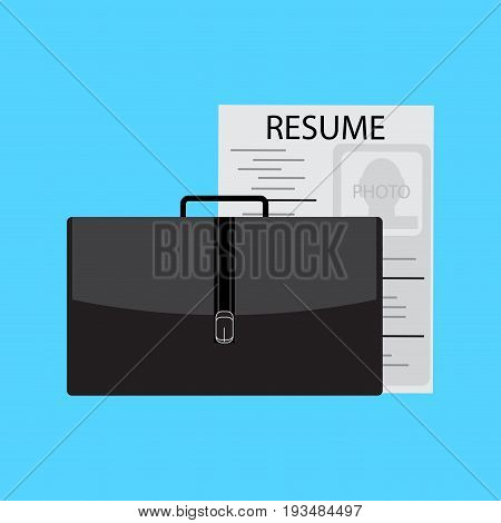 Job search and interview. Professional offer vector career and interview illustration