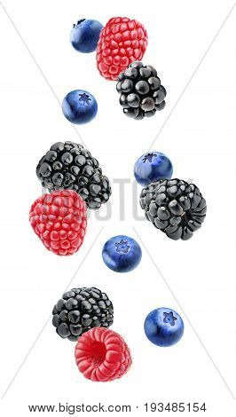Isolated Berries In The Air