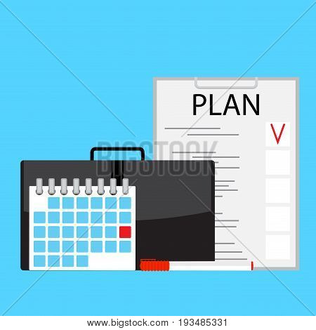 Monthly plan vector. Monthly planner illustration concept business