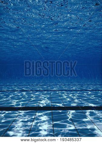 Underwater swimming pool. Underwater background. Swimming pool Underwater