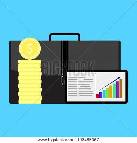 Financial growth in business. Growth financial planning finance graph investment vector illustration