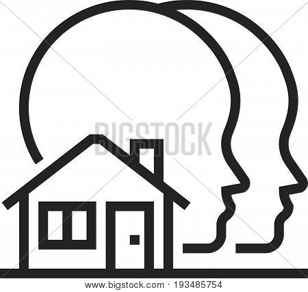 Sharing House Icon