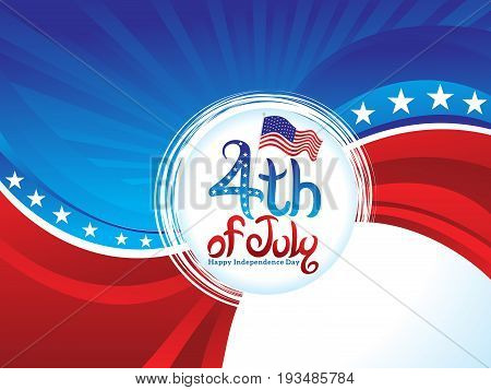 abstract artistic american day background vector illustration