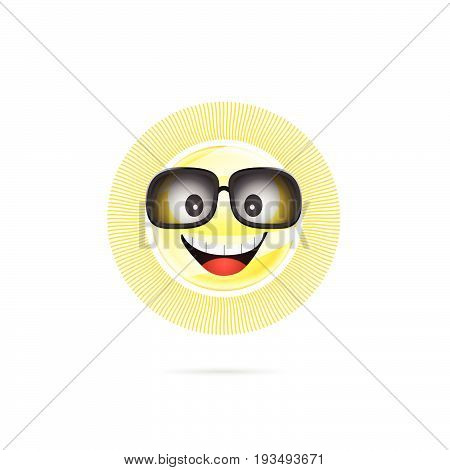 Sun Cartoon With Sunglasses Illustration
