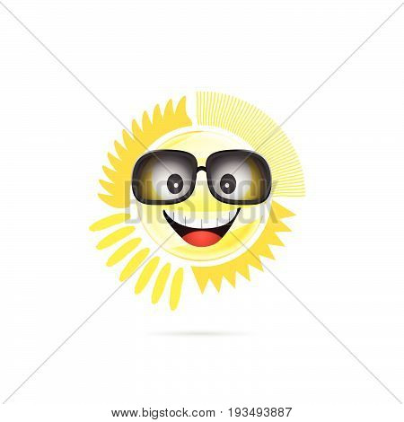 Sun Shine With Sunglasses Illustration