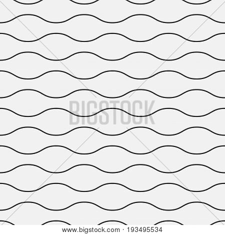 Wavy seamless pattern. Simple repetitive background for your design.