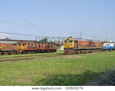 Ge Diesel Locomotive No.4541 And Train No 14