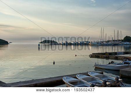 View to Vrsar Port and boats -Istria, Croatia, Europe