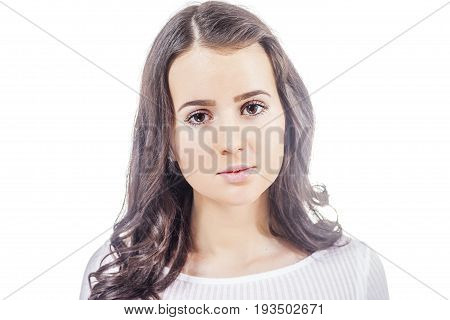 Young Brunette Woman