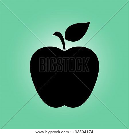 Apple icon. Healthy food concept. Naturopathy symbol.