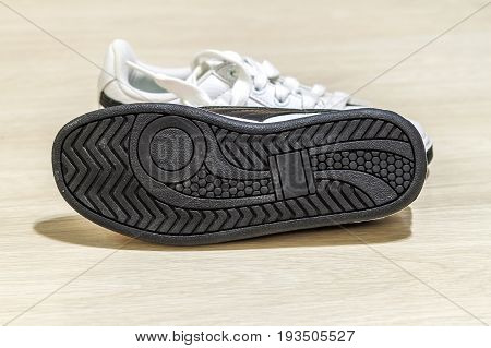Pair of shoes isolated. sole of the shoe