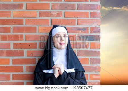 Young Smiling Nun