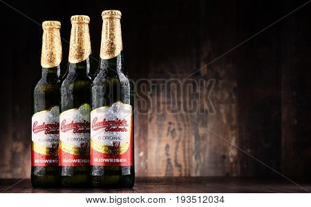 Bottles Of Budweiser Budvar Beer
