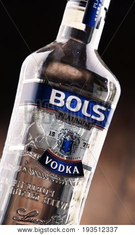 Bottle Of Bols Vodka.