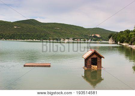 House for ducks lake view Abrau-Durso Russia.