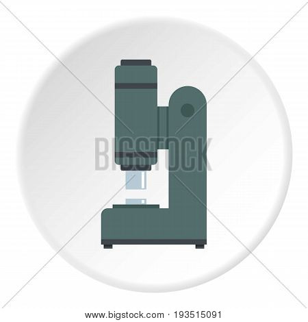 Blacksmith automatic hammer icon in flat circle isolated vector illustration for web