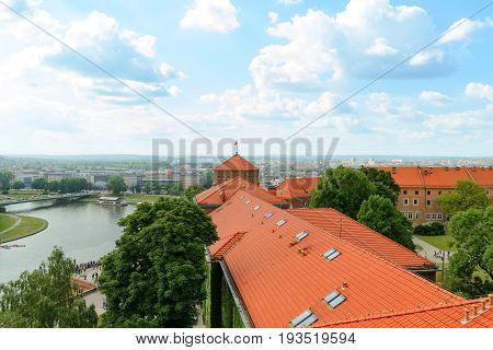 Krakow - Wawel castle day foto. Poland Europe.
