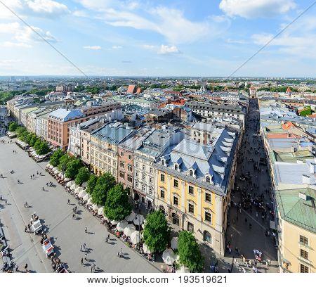 Urban development of Krakow in Poland Europe.
