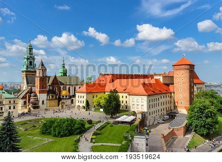 Krakow - Wawel castle at day. Poland Europe