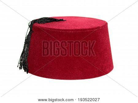 Turkish fez traditional ottoman hat close up image
