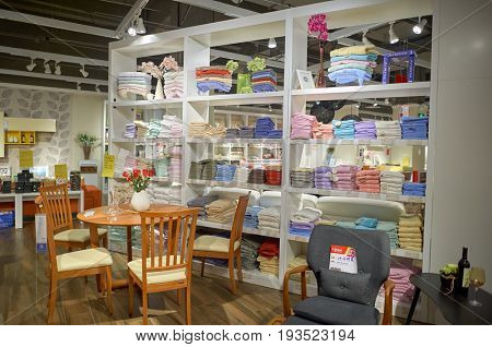 SHENZHEN, CHINA - JANUARY 06, 2015: inside a store at shopping center in ShenZhen. ShenZhen is regarded as one of the most successful Special Economic Zones.