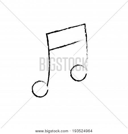 figure musical note trhythm notation icon vector illustration