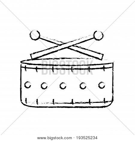figure snare drum musical instrument to play music vector illustration