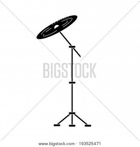 contour cymbal musical instrument to play music vector illustration