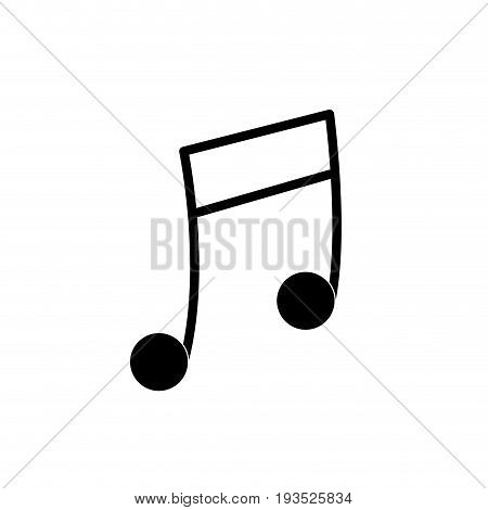 contour musical note trhythm notation icon vector illustration