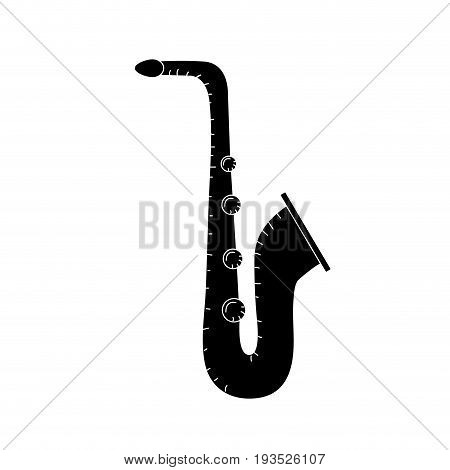 contour saxophone musical instrument to play music vector illustration