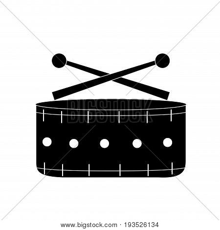 contour snare drum musical instrument to play music vector illustration