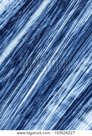 Speckled background collected of blue shades strips superimposed on each other at an angle