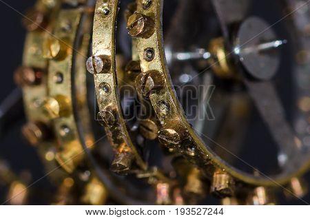 Watch Parts: Close Look at Row of Vintage Metallic Balance Wheels