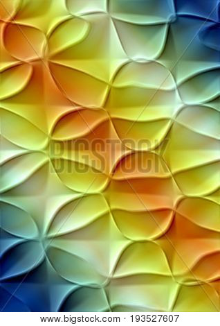 Rainbow gradient background with yellowish tinge covered with embossed texture
