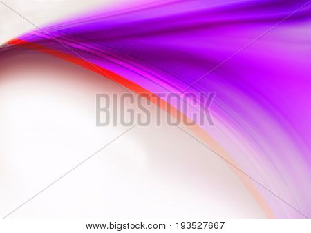 Curved divergent violet rays covered with red and purple stripes on a pale beige background