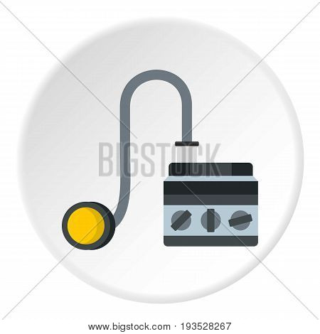 Detonator icon in flat circle isolated vector illustration for web